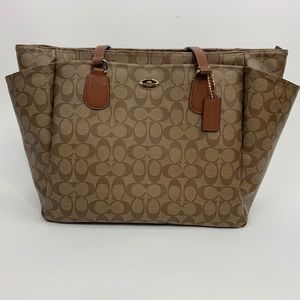 Coach Baby Diaper Bag F35414 Signature Brown